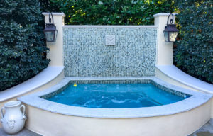 Custom Spa Designed & Built by Sammet Pools - Completed