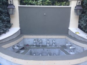 Custom Spa Designed & Built by Sammet Pools - During construction