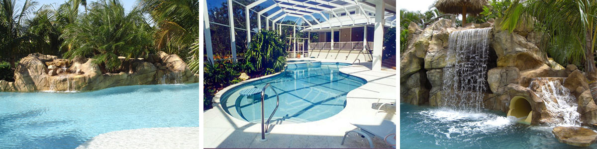 Sammet Pools designing and building custom pools, waterfalls, grotts & faux rock creations in Miami Dade, Broward and Palm Beach counties - A Florida licensed and insured contractor