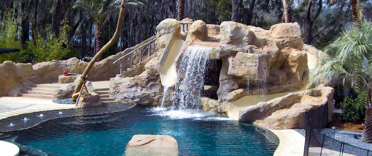 Grottos Waterfalls Faux Rock South Florida Sammet Pools Inc